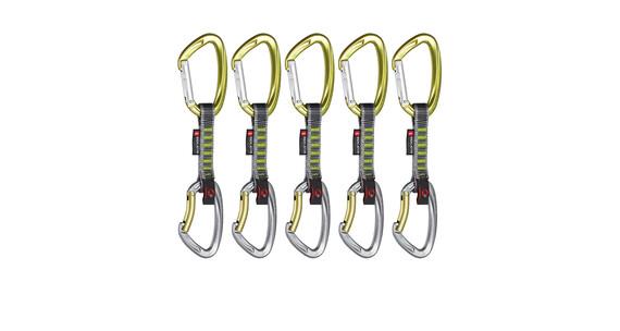 Mammut 5er Pack Crag Indicator Express Sets 10 cm Straight Gate/Bent Gate.leaf